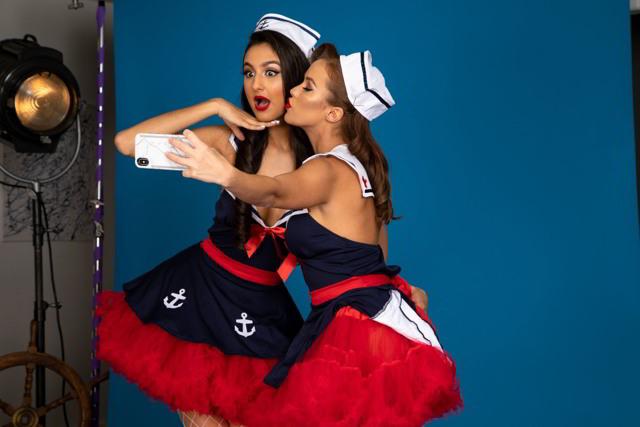 Megan Rain, Eliza Ibarra - Flirts In Skirts - twistys HD video