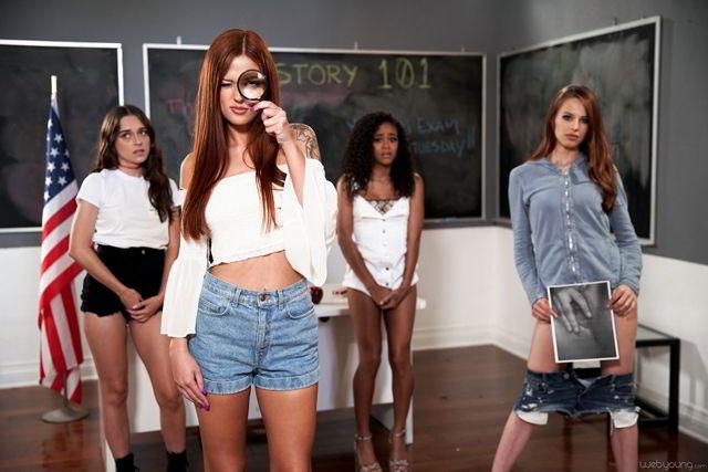 Jillian Janson, Scarlett Mae - Teen Sleuth - girlsway 4k video