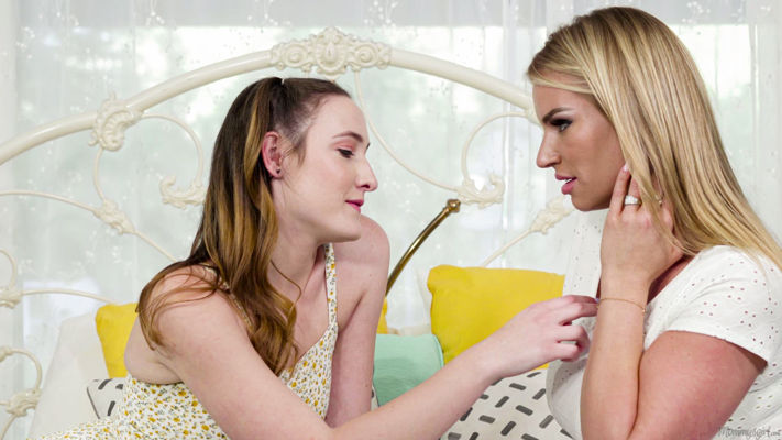 Rachael Cavalli, Everly Haze - She's Half Your Age! - girlsway lesbian old young video