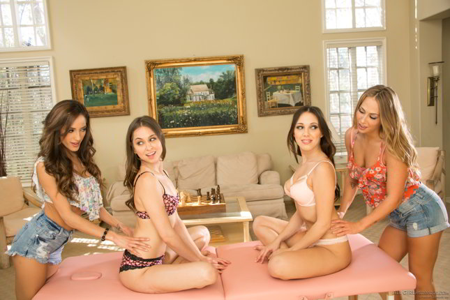 Chloe Amour, Carter Cruise, Riley Reid, Jenna Sativa - Massage Class Secrets Part Three - allgirlmassage.com discount