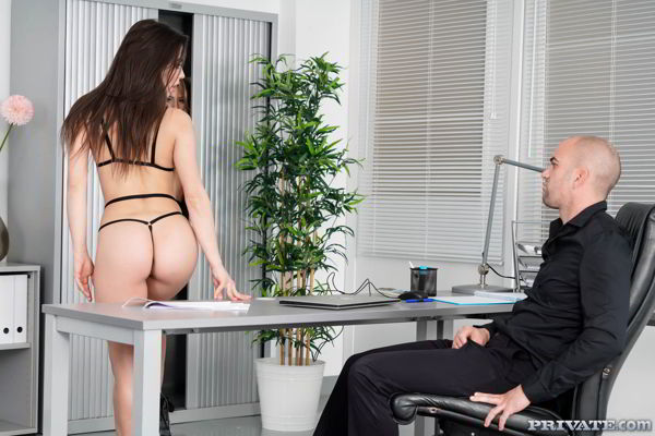 Anastasia Brokelyn - Horny in the Office - HD video
