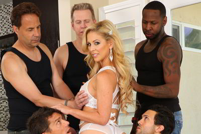 Cherie DeVille - MILF Stunner Cherie's DP Gang Bang - Evil Angel orgy porn video