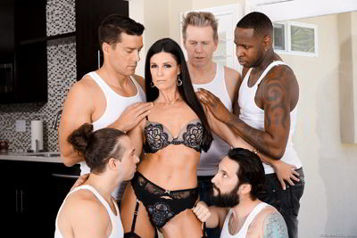 India Summer - MILF Next-Door India's DP Gang Bang - evilangel group porn video