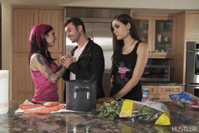 Joanna Angel, Sasha Grey - I Wanna Bang Your Sister - HD video