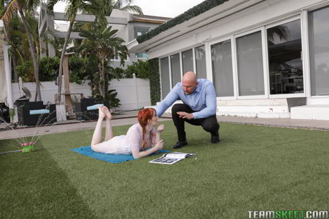 Krystal Orchid - Bracefaced Ginger Bush - teamskeet FullHD video