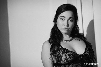 Karlee Grey is Sultry in Black in White While She Masturbates - Cherry pimps discount