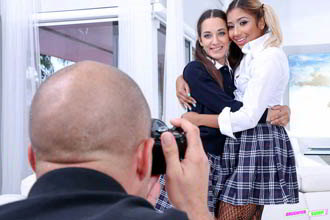 Ally Berry And Freya Von Doom: School Photo Substitution - DaughterSwap Full HD stream