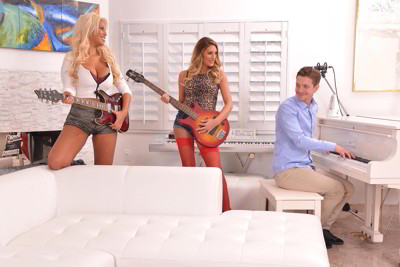August Ames and Bridgette B - Piano Man Banging Two Busty Tits Rock Star Sluts - bustylover.com FullHD video
