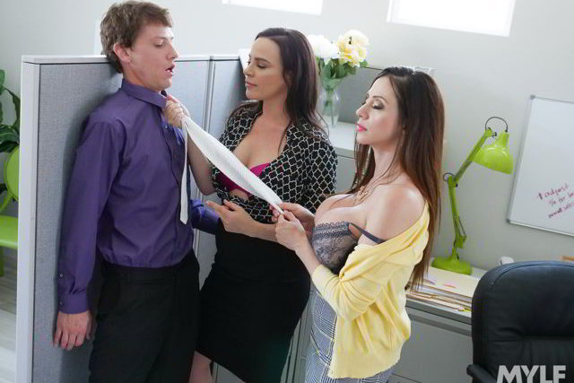 Ariella Ferrera , Dana Dearmond - Executive Office Creampies - MILF BOSS porn video