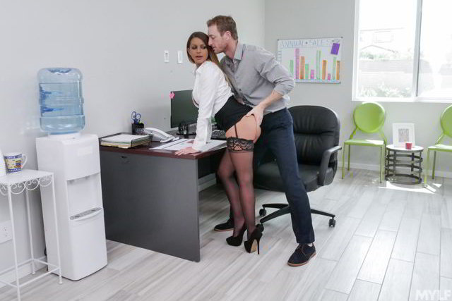 Brooklyn Chase - Rammed For A Raise - Full HD Office porn video